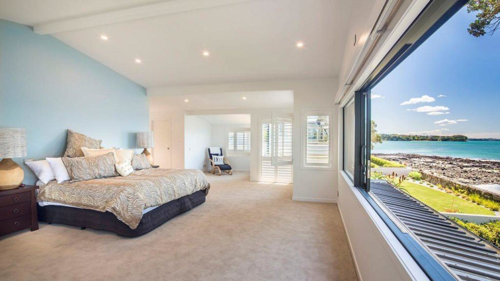 Large bedroom with sea view